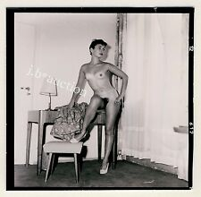 NUDE GERMAN PINUP GIRL TANLINES / NACKTES MODELL * 60s SEUFERT Contact Print #1