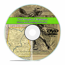 Alabama AL, People Civil War, Family Tree History Genealogy, 94 Books DVD CD V92