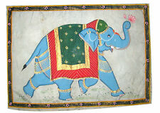 A Very attractive & beautiful silk painting of Traditional ELEPHANT from India