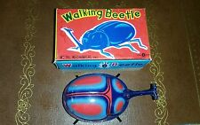 VINTAGE TIN wind up toy JAPAN WALKING BEETLE K ***in box tin toy lot