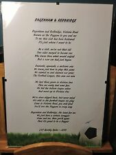Dagenham & Redbridge FC Original Poetic Gift Framed Unique And Unusual