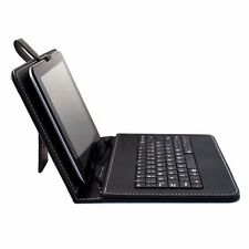 "9"" PU Leather Micro USB Keyboard Case With Buttons Stand Cover for Tablet"