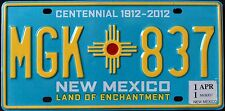 """NEW MEXICO """" CENTENNIAL 100 YEARS ENTCHANTMENT """" NM Graphic License Plate"""