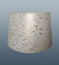 "10"" FOILE EMPIRE DRUM SHADE IN GOLD & CREAM COLOUR FOR TABLE LAMP OR CEILING USE"