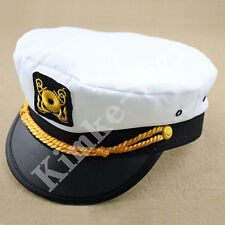 Yacht Captain Skipper Sailor Boat Cap Hat Costume New