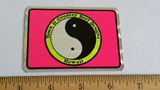 VTG 80's T&C SURF DESIGN HAWAII VENDING MACHINE PRISM SURFING SKATEBOARD STICKER