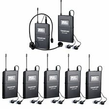 Takstar WTG-500 UHF Tour Guide Wireless System 1 Transmitter with 6 Receivers