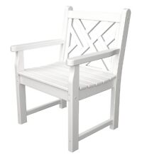 POLYWOOD Chippendale Garden Arm Chair in White CDB24WH Bench NEW