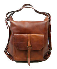 Shoulder bag & backpack 2in1, genuine leather. Handmade.