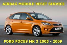 FORD FOCUS MK 3  AIRBAG MODULE RESET | ECU CRASH DATA RESET SERVICE