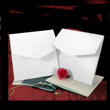 SQUARE DANDY WHITE BRODERIE POCKETFOLD INVITATIONS MATCHING ENVELOPE & INSERTS