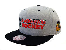 Chicago Blackhawks Snapback Mitchell & Ness Heather Jersey Cap Hat Grey Black