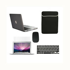 "5in1 Rubberized BLACK Case for Macbook PRO 13"" + Keyboard Cover +LCD+ Bag +Mouse"