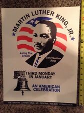 "vintage Martn Luther King Jr Holiday Commission 18x14"" poster American Celebrate"