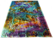 Goddess Saraswati OM Swan Indian Tie Dye India Wall Hanging TAPESTRY Bedspread