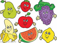 Stickers muraux enfant Fruits 25x30cm réf 2530