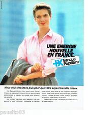 PUBLICITE ADVERTISING 066  1985  la Banque Populaire  une énergie
