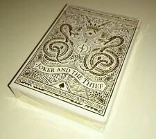 Joker & The Thief White Gold Rare Limited Edition Custom Poker Playing Cards !!