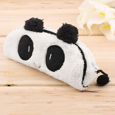 Panda Plush Pencil Case Pen Pocket Cosmetic Makeup Zipper Bag Pouch Gift Soft SC