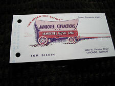 ELVIS PRESLEY TOM DISKIN JAMBOREE ATTRACTIONS BUSINESS CARD