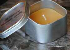"""Natural 100% BEESWAX 3"""" x 3"""" Tin with Lid candle hand made in USA"""