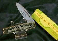 "Parker Cut Imai Knife ""Spirit Of America"" Stainless Steel Body Heavily Ingraved"