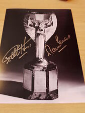 Signed Sir Geoff Hurst & Martin Peters England 1966 World Cup 12x8 Photo - Proof