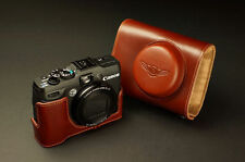 Handmade Genuine real Leather Full Camera Case Camera bag Cover for CANON G16