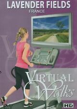 LAVENDER FIELDS FRANCE VIRTUAL WALK WALKING TREADMILL WORKOUT DVD AMBIENT COLL.