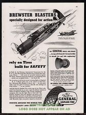 1943 WW II BREWSTER Bermuda Dive Bomber Military Aircraft WII General Tires AD