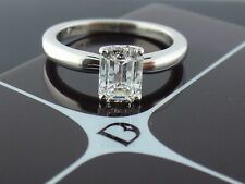 De Beers Platinum 1.02ct G VS2 Emerald cut Diamond Solitaire Engagement Ring