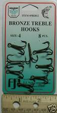 DOLPHIN Bronze Treble Hook Size 4 Qty(8) PB2812