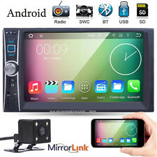 "Android 6.6"" Double 2 Din In Dash Car MP3 Touch FM Radio Stereo Player + CAMERA"