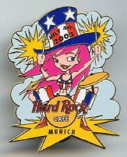 Hard Rock Cafe MUNICH 2003 July 4th PIN Patriot Girl Playing DRUMS - HRC #18532