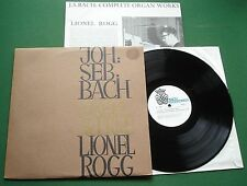 Bach Complete Organ Works Lionel Rogg B-OR-1 LP
