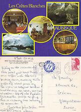1982 LES CRETES BLANCHES COL d'AUBISQUE FRANCE COLOUR POSTCARD
