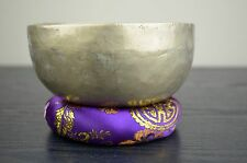 "Antique Hand Hammered Singing Bowl Nepal Free Cushion-Mallet 5.2"" FREE SHIPPING"