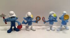Smurfs PVC Figures Lot of 4: VANITY (2), HARMONY, & HANDY