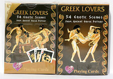 Deck of Playing Cards *Sex In Ancient Greece* Erotic Art Pottery Greek Lovers