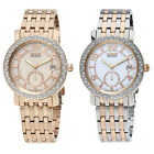 Citizen Rose Gold / Two Tone Eco-Drive Crystal Ladies Watch