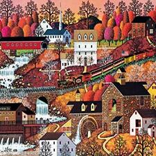 Buffalo Games Waterfall Valley By Charles Wysocki Jigsaw Puzzle From The 500 Toy