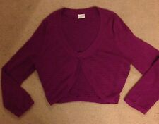 ESPRIT LADIES CARDIGAN SIZE M GREAT CONDITION cropped cerise pink