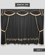Saaria HT-5 Velvet Home Theater Stage Movie Theater Curtains 13'W x 9'H Black