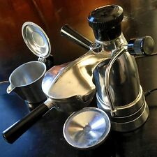 Salton Vesuviana VINTAGE ITALIAN ESPRESSO MAKER Antique Coffee Atomic Era CHROME