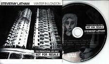 STEVIERAY LATHAM Winter In London 2016 10-track promo CD + press release