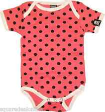 86189 Pink & Black Polka Dot Baby Sourpuss Kid One Piece Romper Child (3-6M)