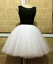7 Layers Handmade Lace Tulle Skirt High Waisted Skirts Womens Tutu Pleated Skirt
