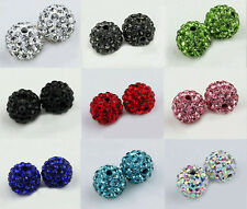Wholesale 90 Pcs Crystal Shamballa Beads Pave Disco Balls 10MM Mixed Colors New