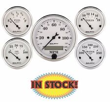 "Auto Meter Old Tyme White Electric 5 Gauge Set 3-1/8"" 1602"