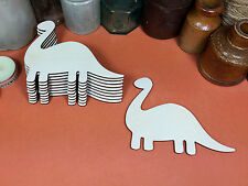 WOODEN BRONTOSAURUS Shapes 12cm (x10) dinosaur wood cutouts crafts blank shape